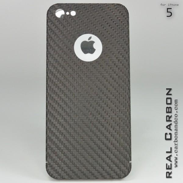 Carbon Cover iPhone 5 met Logo Window
