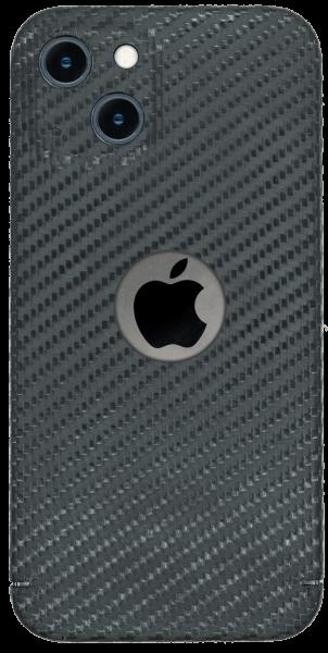 Carbon Cover iPhone 13 met Logo Window