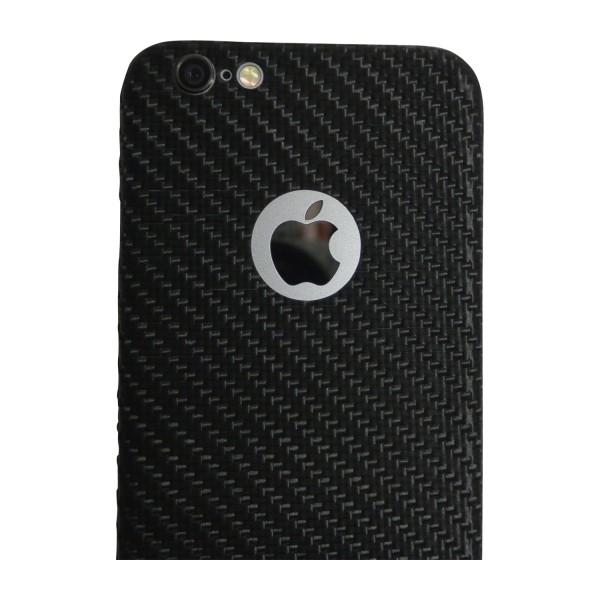 Carbon Cover iPhone 6 met Logo Window
