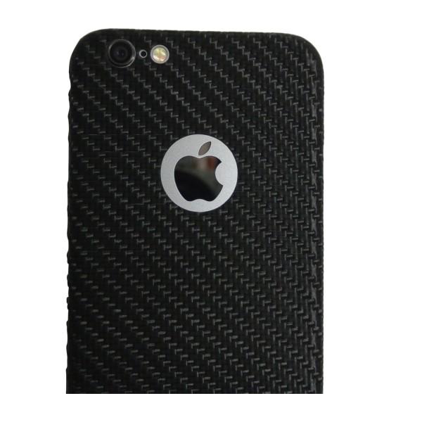 Carbon Cover iPhone 6 Plus met Logo Window