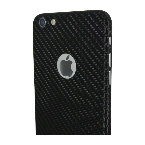 Carbon Cover iPhone 6s met Logo Window
